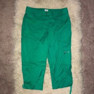 ZENERGY by CHICOS green capris sz 2/large